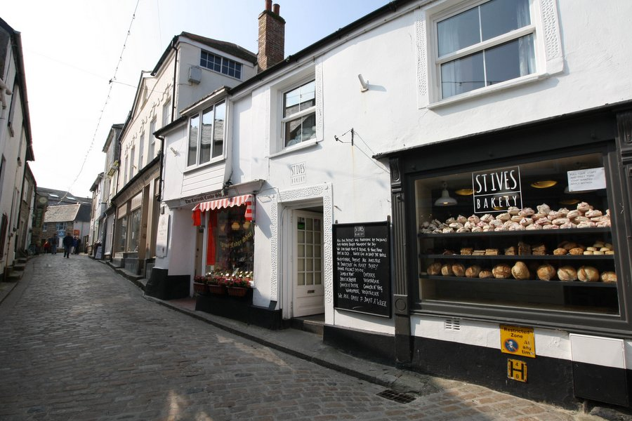 Fore Street, about 3mins walk from Porthmeor Court