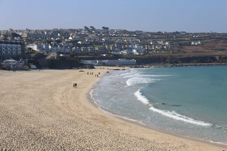 Porthmeor Beach,  a 30 second walk from the holiday cottage